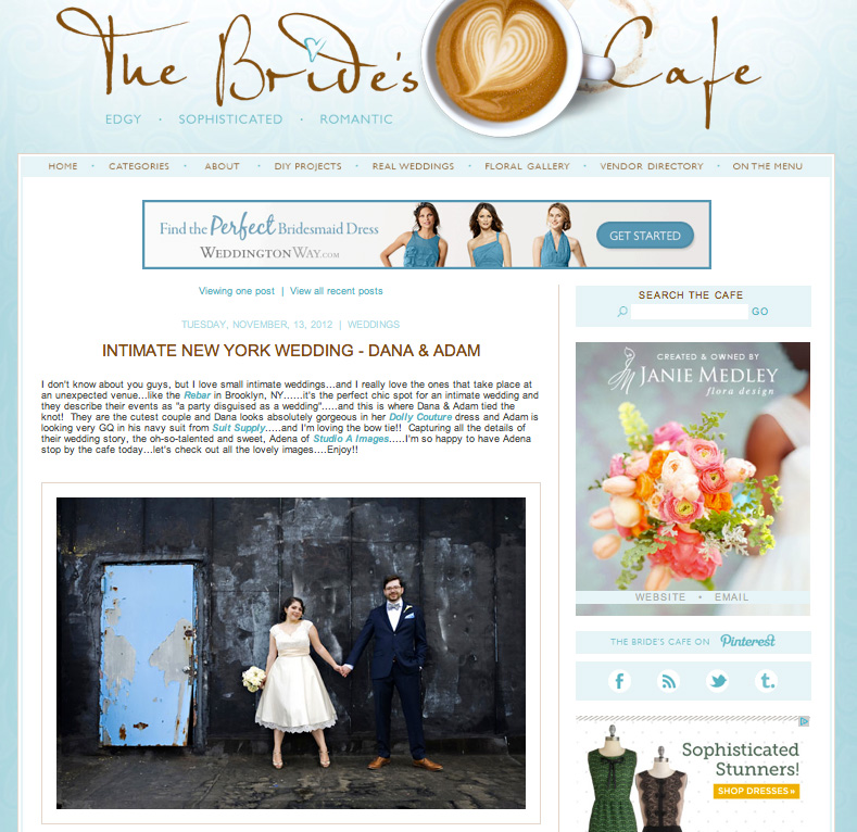 The Bride's Cafe - November 2012read the full post here