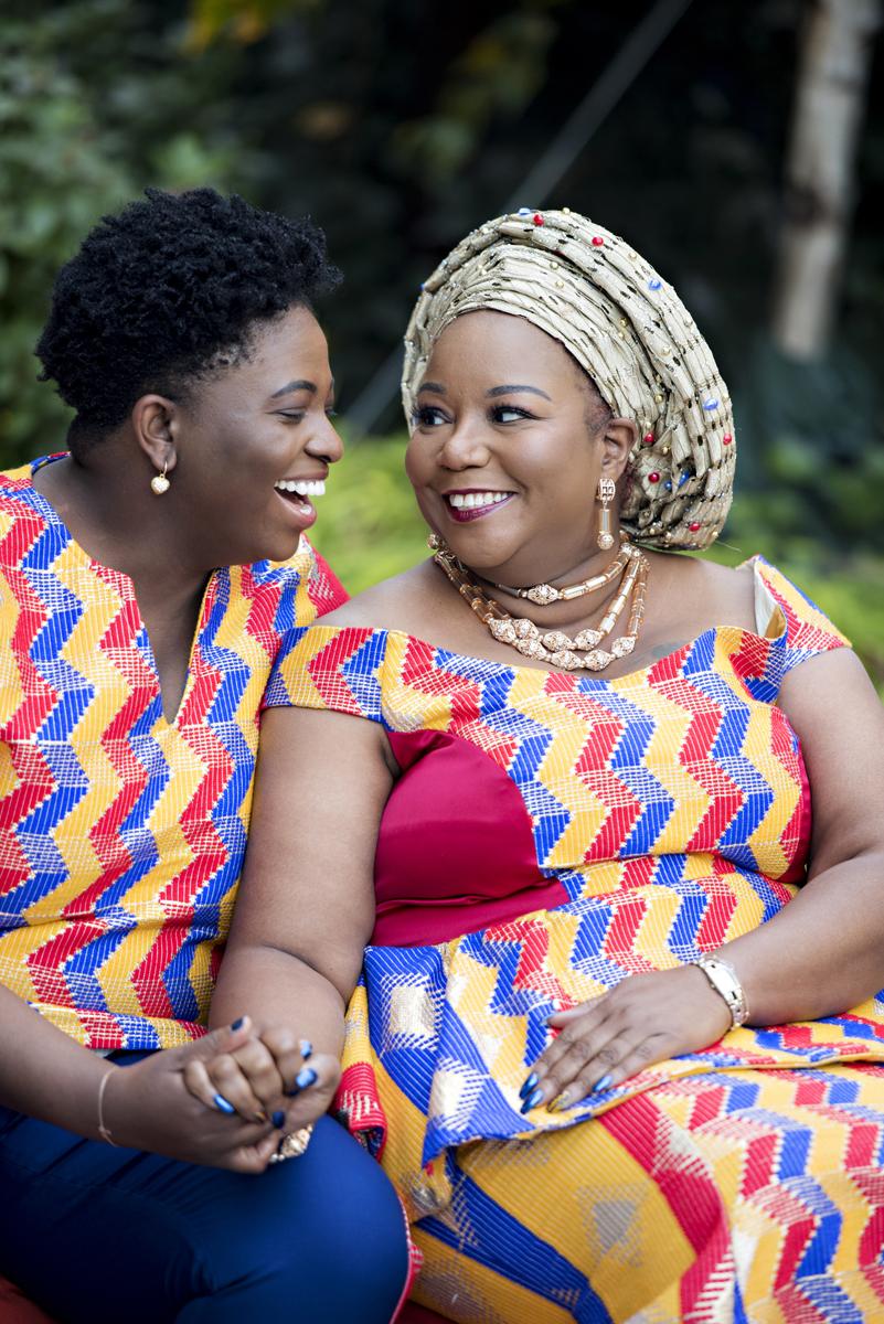 African wedding couple in Brooklyn. Brooklyn LGBTQ wedding photographer