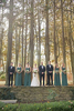 Creative wedding party portrait at Ridley Creek State Park.  Philadelphia wedding photographers