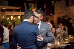 Grooms first dance at Hoboken reception. Gay marriage, gay wedding.