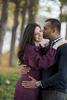 An engaged couple kissing during their engagement session in Jersey City. Jersey City wedding photographer