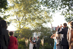 wedding ceremony in Van Vorst Park, Jersey City