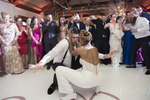 guests dancing at wedding at Liberty House in Jersey City. Jersey City wedding photographer