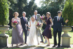wedding party portrait at Trebor Garth Estate wedding. NJ wedding photographers