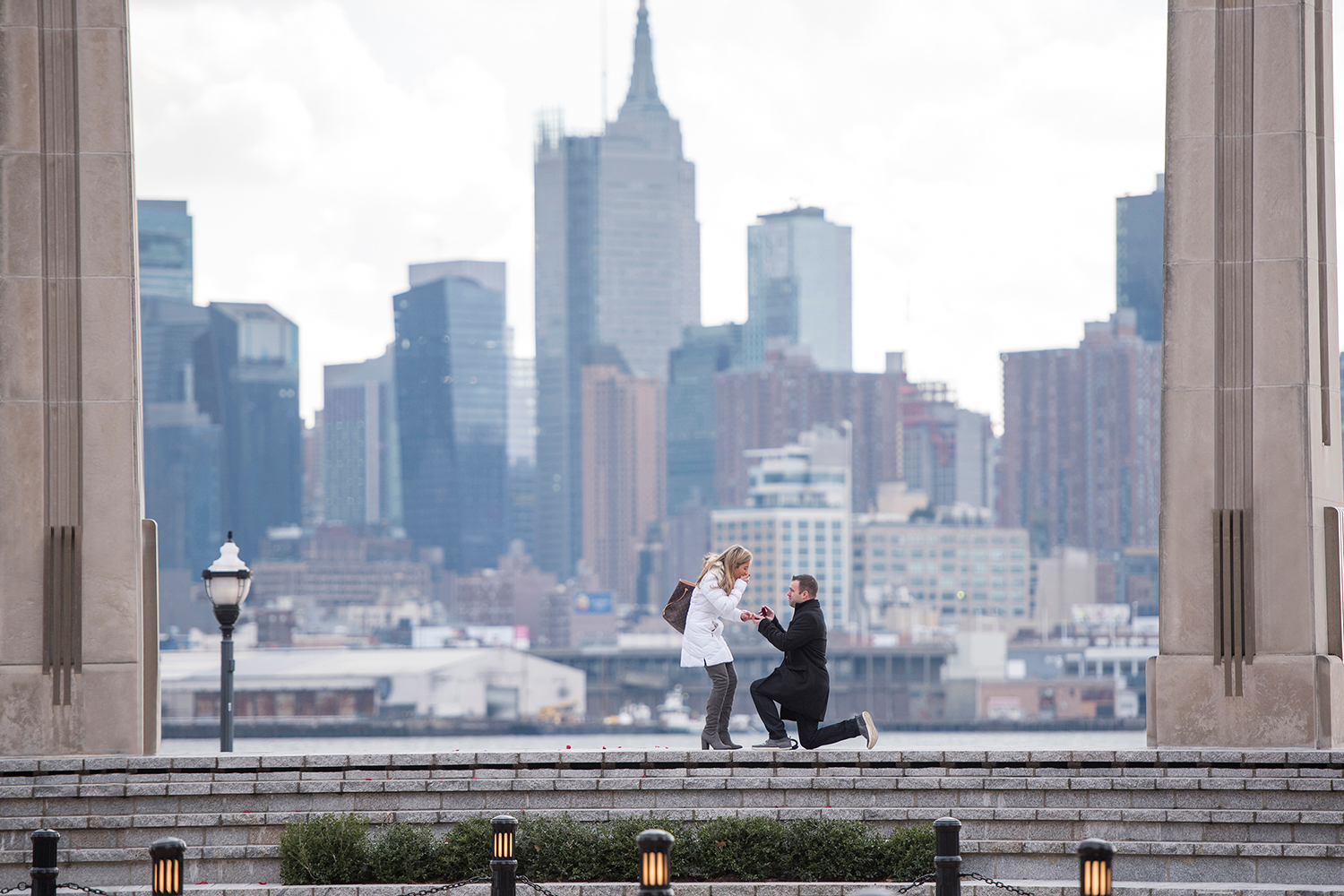NJ proposal against the NYC skyline
