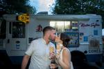 New York backyard microwedding complete with a Mister Softee ice cream truck. New York microwedding photographer