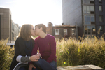 portrait of lesbian women engagement photos at The Highline. Gay-friendly NJ wedding photographers