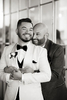 Grooms on their wedding day in NYC. LGBTQ wedding photographer