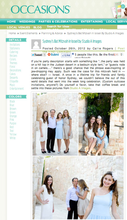 Occasions Magazine - October 2012read the full post here