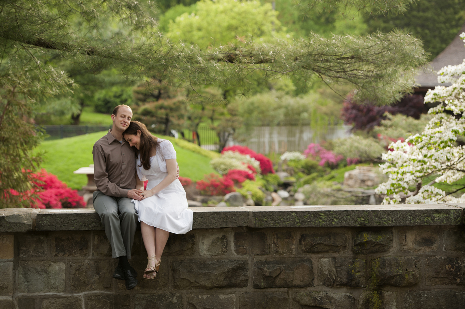 engagement session at Philadelphia's Horticulture Center in Fairmount Park Conservancy.