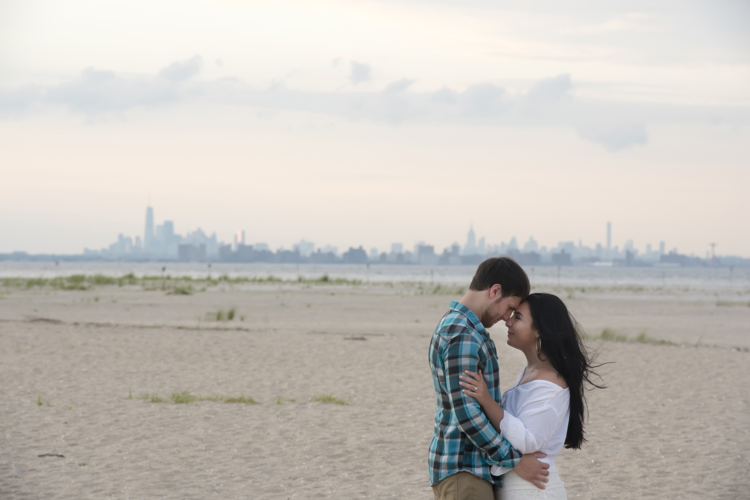 Engagement session at the beach at the Jersey Shore