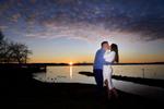 engaged couple kisses at sunrise in Nyack, NY. NY wedding photographer