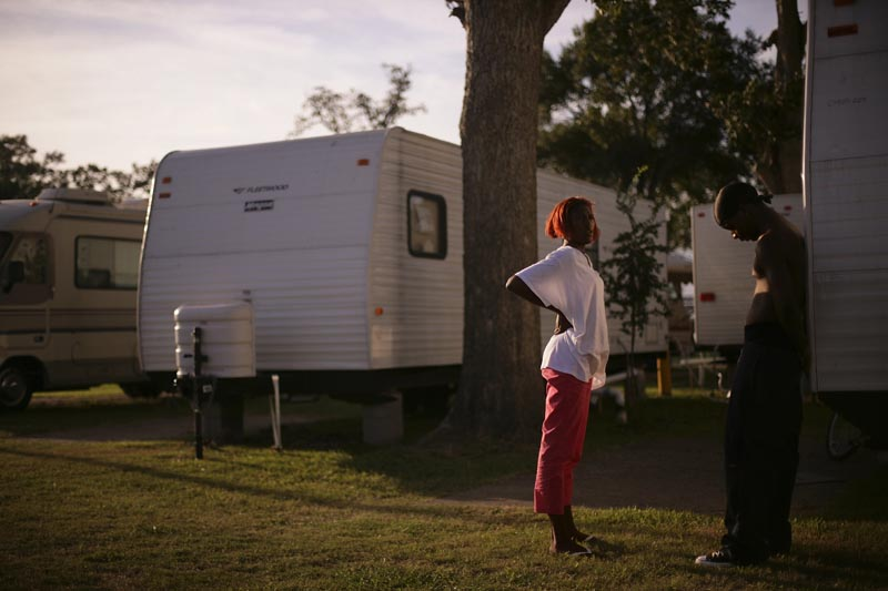 Gaylin Davis was living in New Orleans' 3rd district when the hurricane came and destroyed his neighborhood. He now lives in a FEMA trailer with his girlfriend, Zina Ray, and their daughter, Crystal, 1.