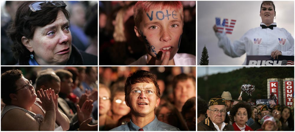 Faces from the campaign trail.