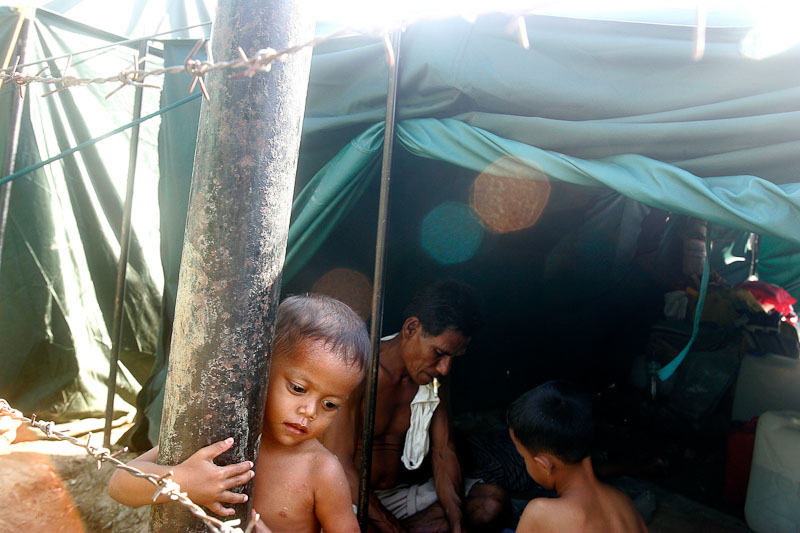 The Indonesian government set up this refugee camp on the grounds of a mosque in Aceh Besar after the 2004 Asian Tsunami.