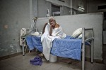 PORT-AU-PRINCE, HAITI - FEBRUARY 7: Bernita Zidoir suffers from  bad heart condition in the aftermath of the earthquake that stuck Port au Prince on January 12, 2010 at L'Hopital General on February 7, 2010 in Port au Prince .