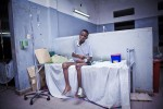 PORT-AU-PRINCE, HAITI - FEBRUARY 7: Winsor Lafeniere suffers from ascites in the aftermath of the earthquake that stuck Port au Prince on January 12, 2010 at L'Hopital General on February 7, 2010 in Port au Prince .