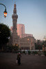Shiekh Mohammad outside Omar Makram Mosque on Tahrir Square on early morning on December 5th. 2011.