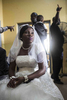 A woman awaits her marriage license at the chaotic Federal Wedding Registry in Lagos, Nigeria, on November 1.