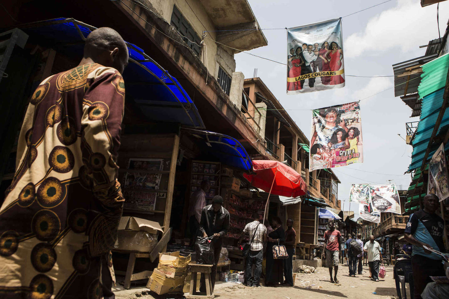 Alaba Market was the birthplace of the Nollywood Industry and is still the biggest hub for buying and selling movies.