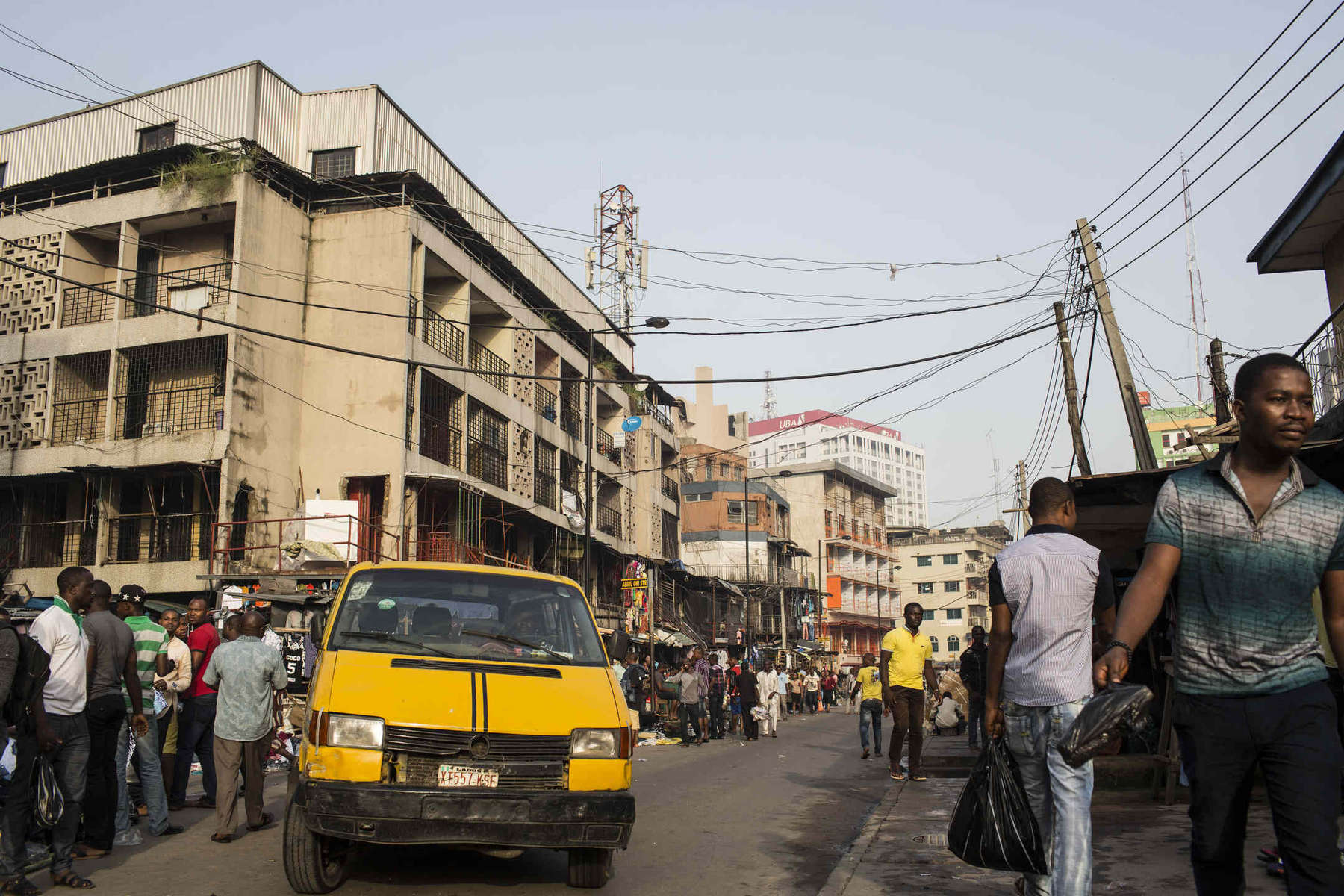 Nigeria's economy is growing quickly but despite the massive wealth, many people still work in the informal economy and hawk goods on the side of the road or in overcrowded marketplaces.