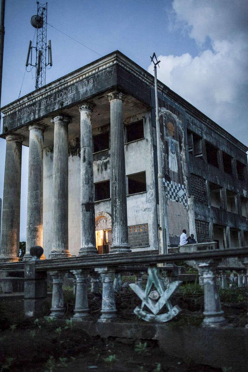 The Freemason Temple in Harper, Southeast Liberia