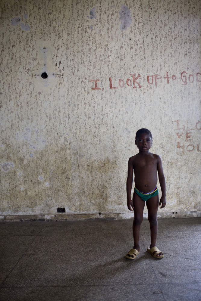 In former President Tubman's hometown in Harper, a remote town in southeast Liberia, his mansion has fell into disrepair during the civil war, when most of his relatives fled to the United States. It is now filled with squatters. August, 2010.