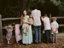 {quote}A Wife With a Purpose,{quote} the online super star Ayla Stewart, poses for a portrait at a public park in the southeastern United States on August 23, 2017 along with her six children. She's known for promoting #tradlife (traditionalist homemaking and white culture). She's been kicked off twitter for hate speech, though has started accounts on Gab and other platforms, and continues to have a huge youtube following. Though she believes there are three definitions of the word Nazi, she says there is only one definition of the word racist and she claims she is not racist.