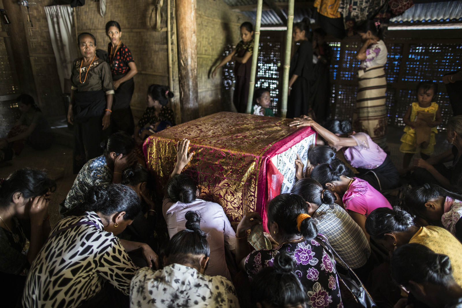 Rapine Remikato died a year before his funeral in Sumba, a remote island in Eastern Indonesia. The time in between death and the funeral allows family members to plan for the expensive procession but also for a more gradual goodbye.