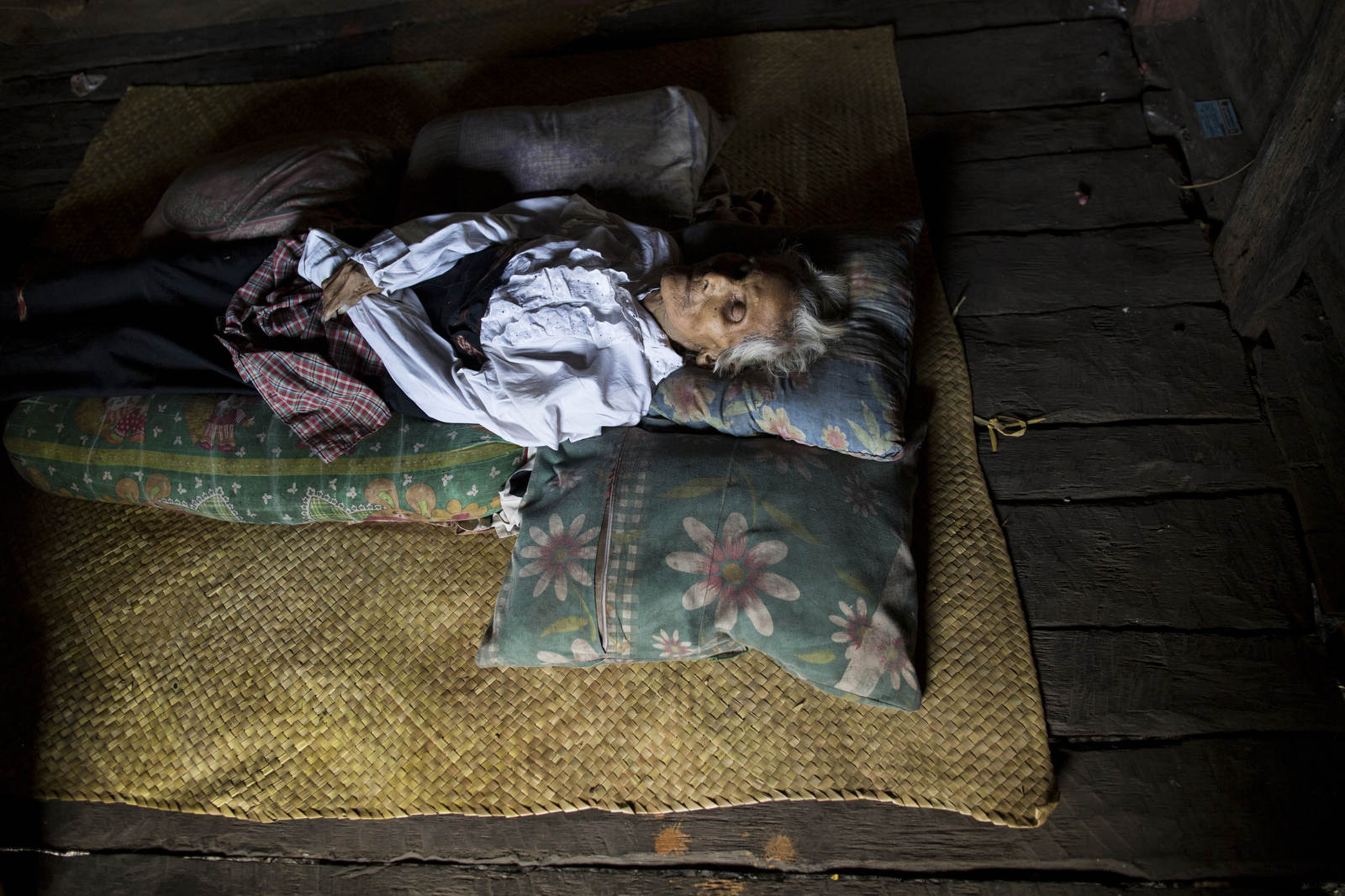 Nama Lawa Lati died at age 79 in Lumbu Wanga, a village on the remote island of Sumba in Eastern Indonesia. Her relatives put her in her nicest clothes and laid her body in the middle of the room for visitors to come and greet.