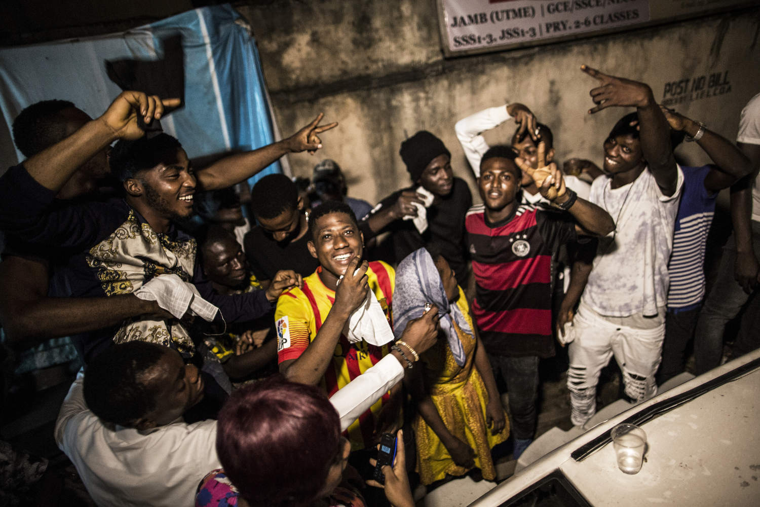 At a Lagos Island street party on a Friday night, young ambitious musicians practice their songs and dancers practice their move, all dreaming of fame and fortune.