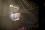 Wasila\'s bed in her village.