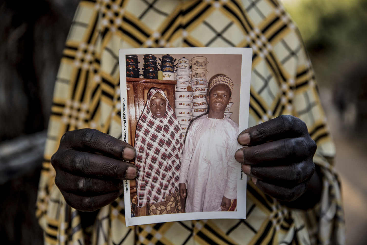 I didn't see a picture of Umaru until we went to his first wife's home in the third of the villages. Men in these ends take up to four wives, as the prophet did, with the main constraint being the cost of the dowry. Umaru had been married to a first wife for seven years when he could finally afford to buy the trinkets for Wasila.