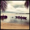 High tide on the Peninsula in Sierra Leone. November 2012.