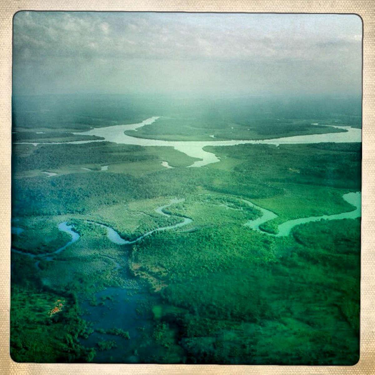 Flying above Sierra Leone. November 2012.