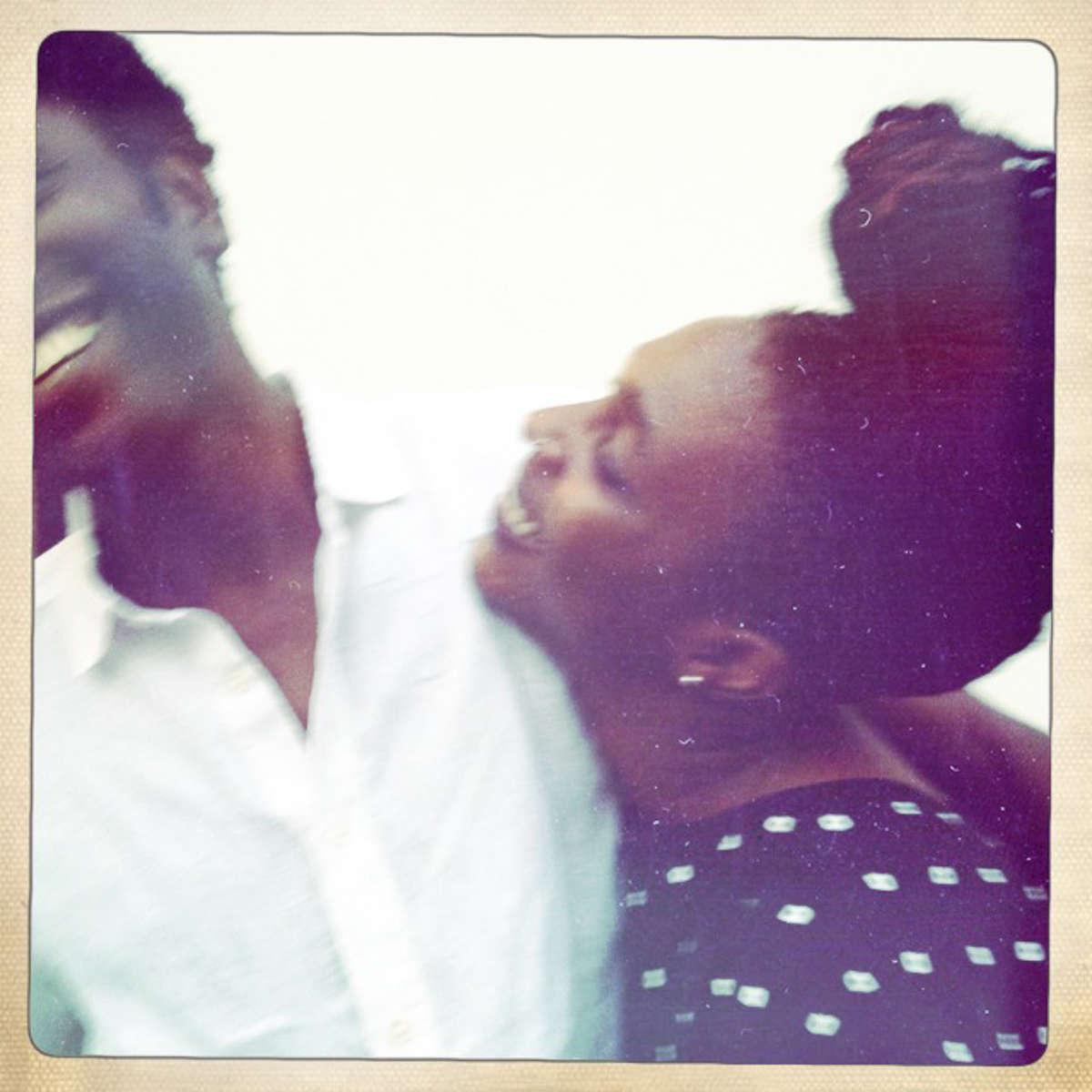 Hauwa and Femi on their one year wedding anniversary. Lagos, Nigeria. January 2013.