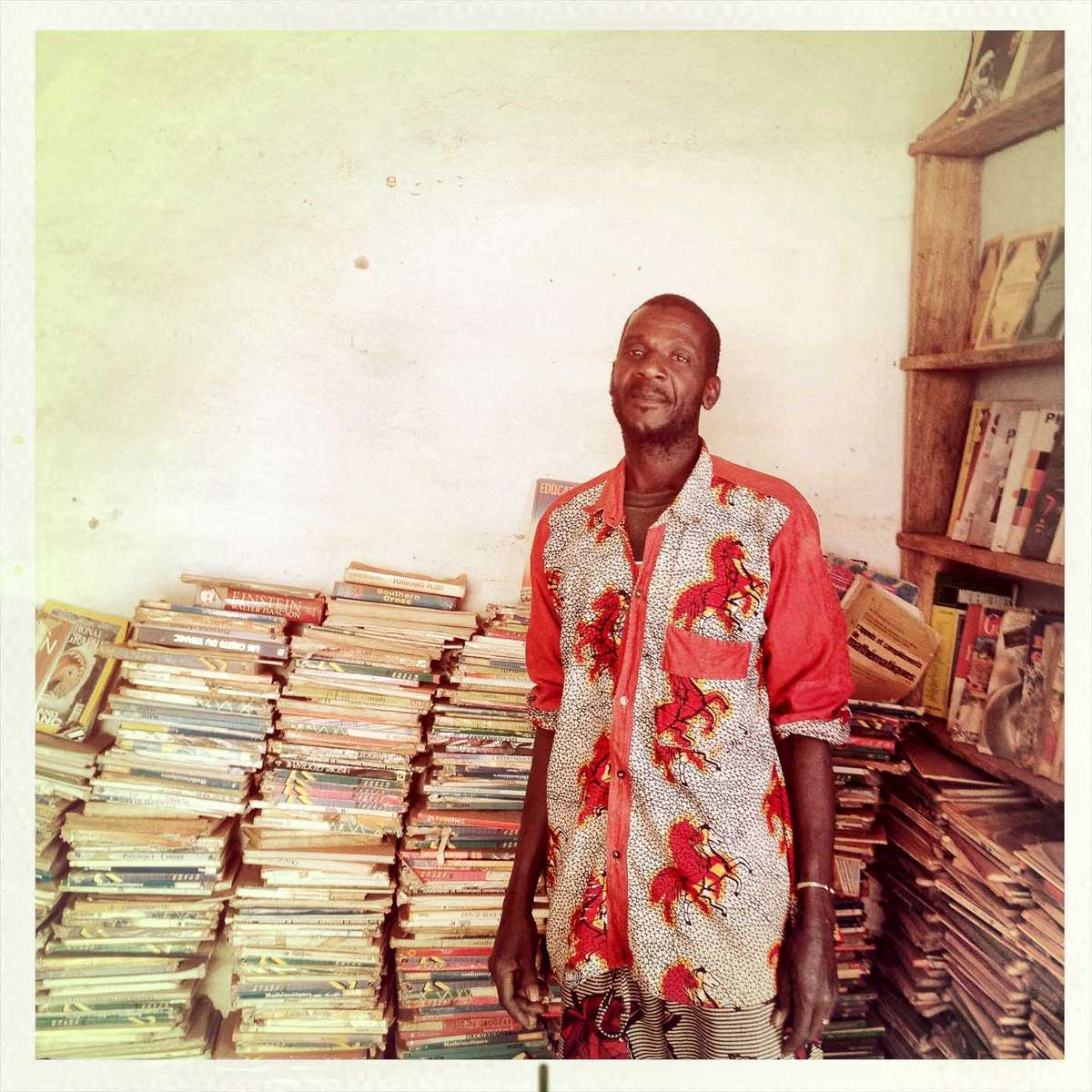 A bookseller in Bamako, Mali. January 2013.