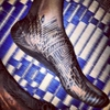 Henna\'ed feet. Bamako, Mali. January 1013.