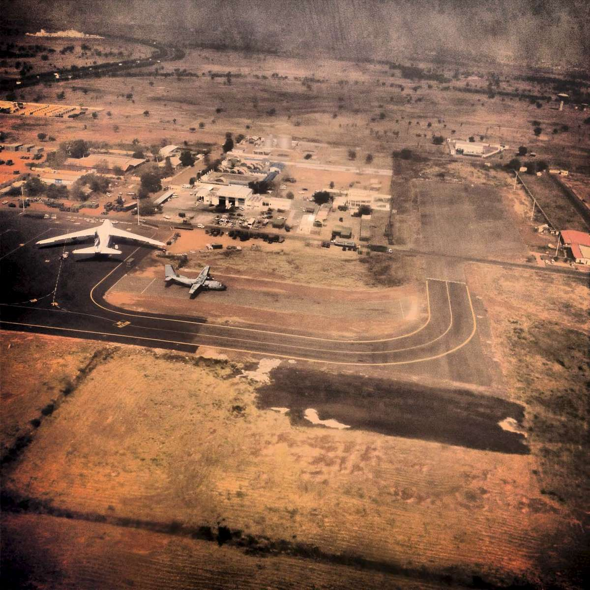 The airport in Bamako, Mali. January 2013.