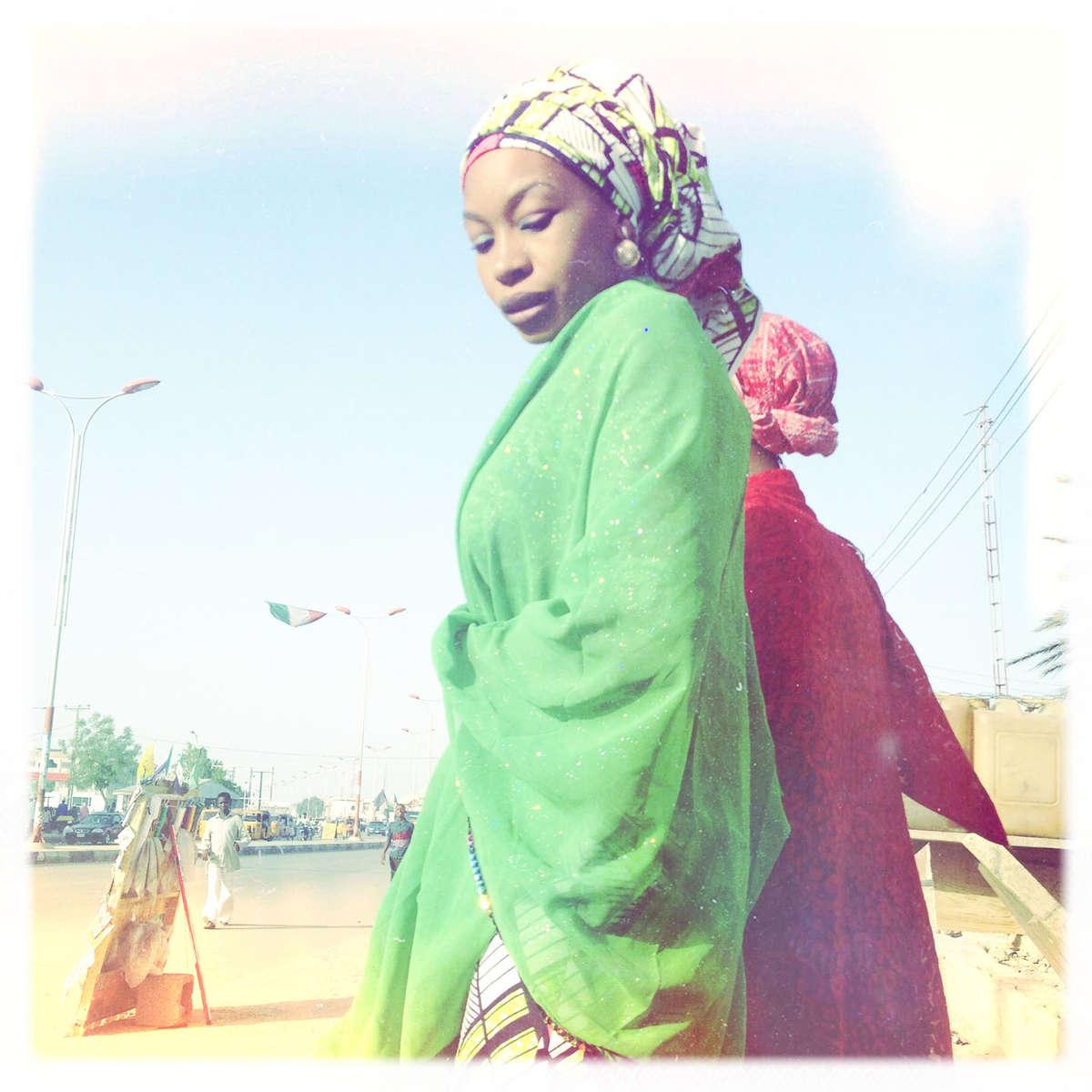 Pretty ladies in Kano, Northern Nigeria. April 2013.