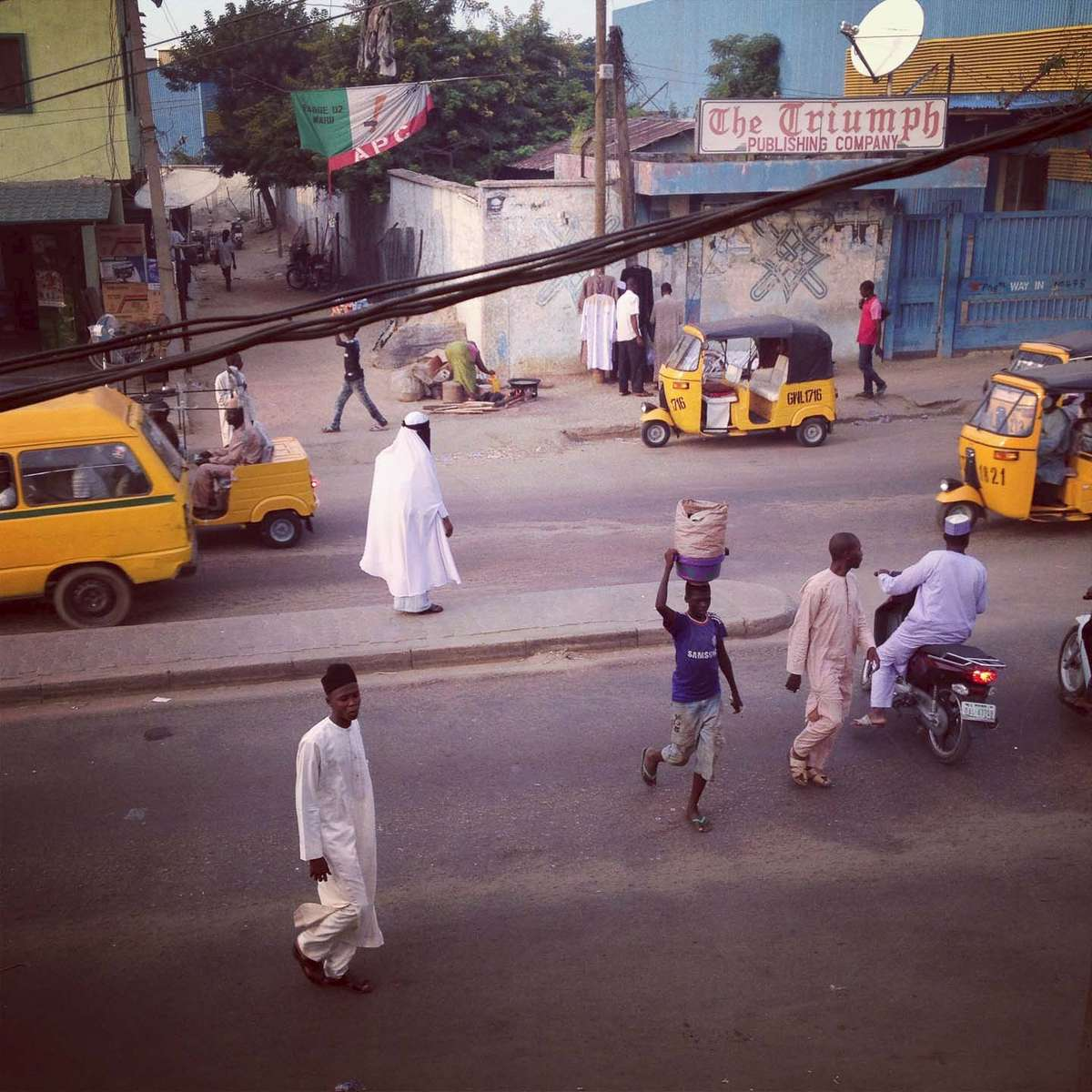 The streets of Kano, Northern Nigeria. October 2013.