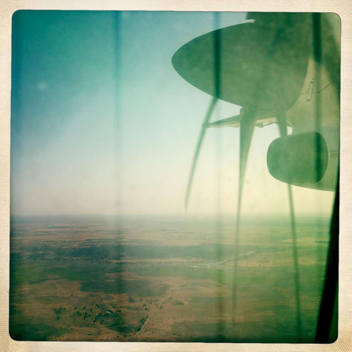 Flying over Chad. November 2013.