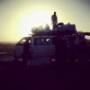 Minibus in N\'djamena, Chad. November 2013.
