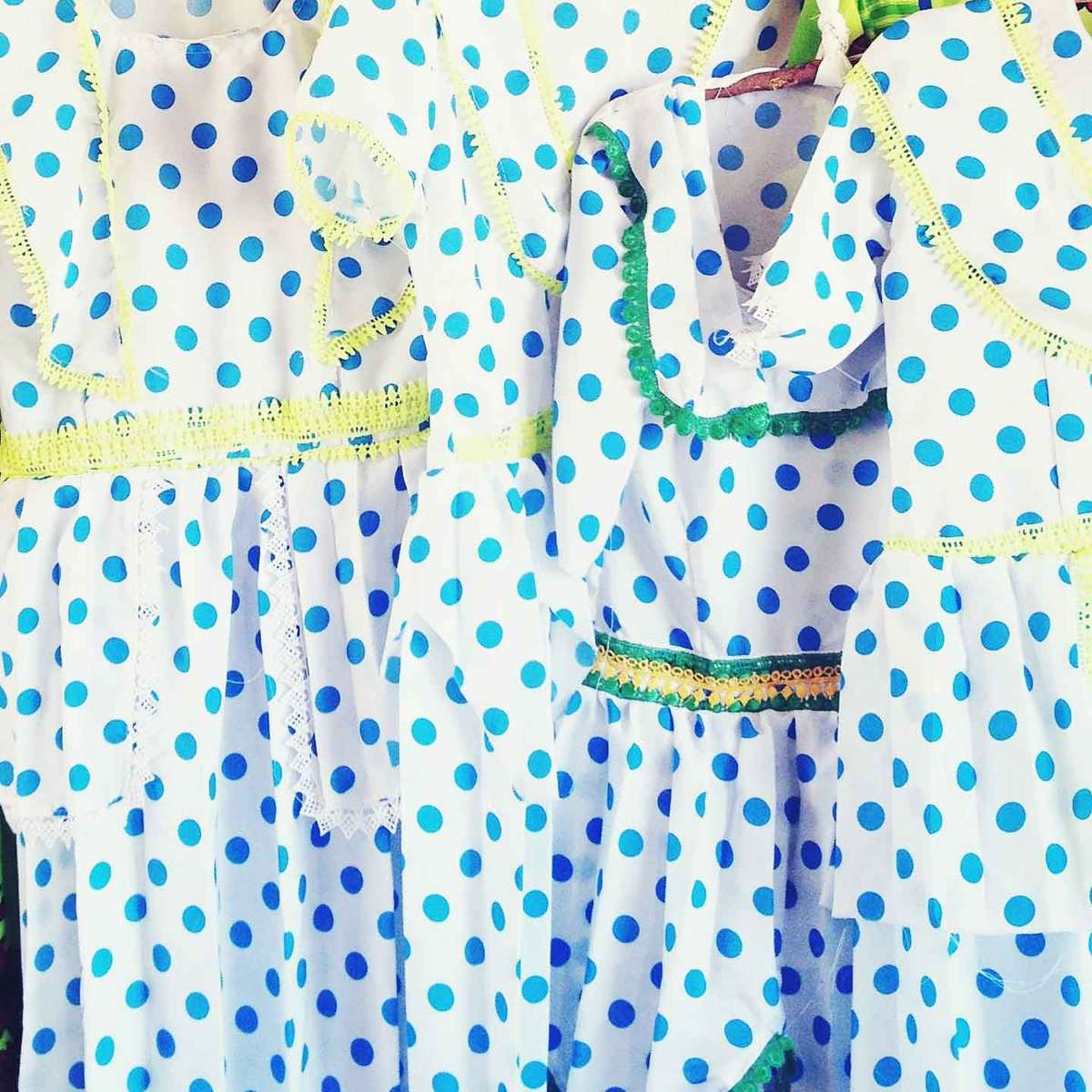 Dresses for sale at a Darfuri refugee camp in Eastern Chad. October 2013.