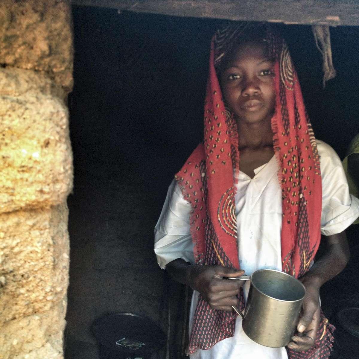 A young girl at a Darfuri refugee camp in Eastern Chad. November 2013.