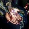 Henna\'ed hands before a wedding. Northern Nigeria. November 2014.