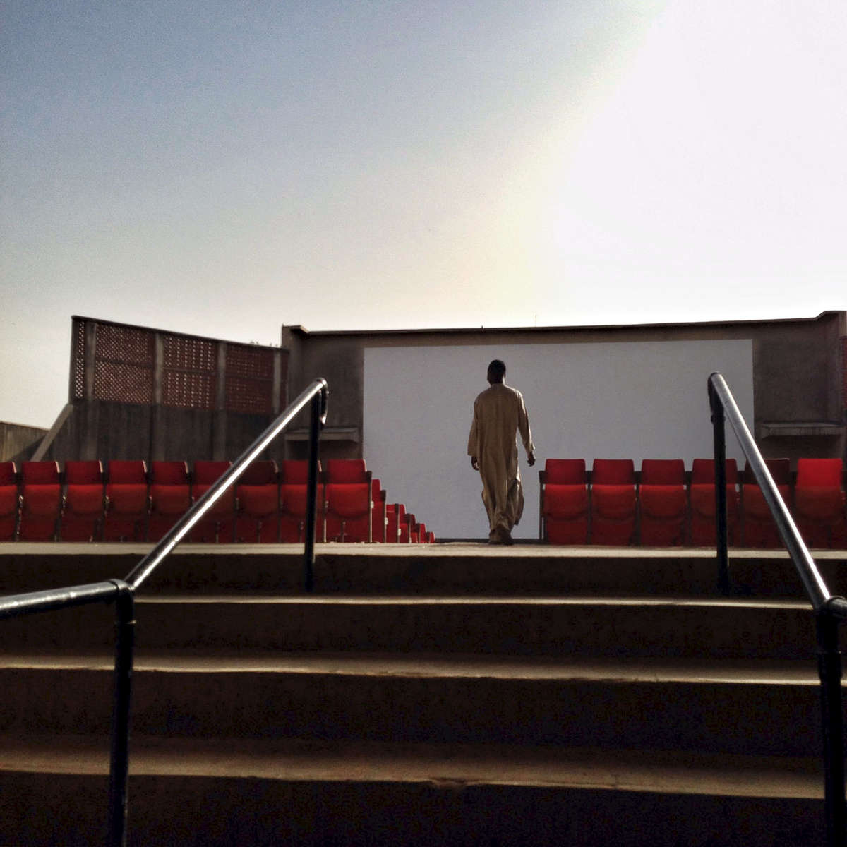 An open air movie theater in Kano, Northern Nigeria, that\'s long been out of use. March 2014.