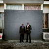 Security guards outside of the senate building in Monrovia, Liberia. January 2014.