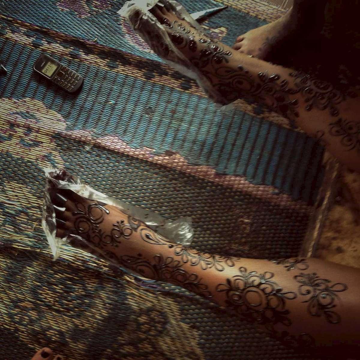 Henna\'ed feet. Kano, Northern Nigeria. February 2014.