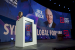 Jack Welch is speaking at the Synergy Global Forum NY at The Theater at Madison Square Garden October 28, 2017. Photo by Ron Wyatt Photography